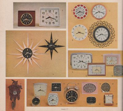let's look inside the 1960 gold bond trading stamp catalog A Look Inside The 1960 Gold Bond Trading Stamp Catalog goldbond catalog clocks cropped 400x362